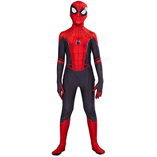 NEW Adult Spider-Man Far From Home Peter Parker 3D Zentai Cosplay Costume Suit !