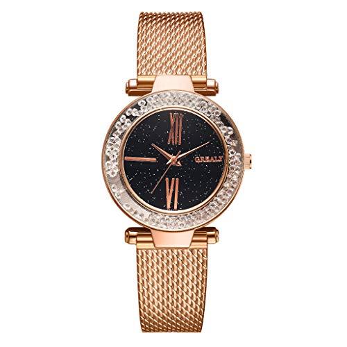 chenqiu Luxury Diamond Watch, Simple dial Diamond Crystal Quartz Watch, Men's Luxury Business Waterproof ()