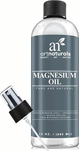Art Naturals® Magnesium Oil 12 Oz - Best Natural Deodorant - Reduces Migraines | Sore Muscle and Joint Relief