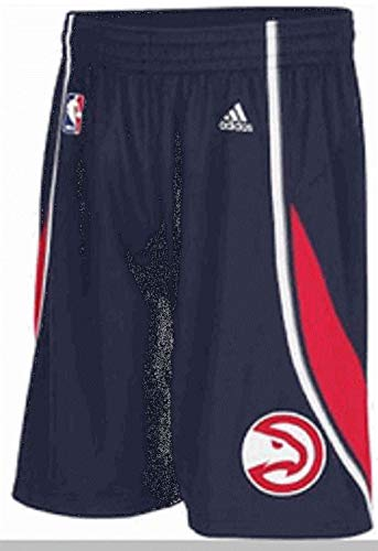 adidas Atlanta Hawks Navy Embroidered Swingman Basketball Shorts (S=32-33)