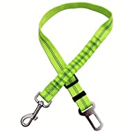 KABB Dog Seat Belt,Dog Car Seatbelts Adjustable Pet Seat Belt for Vehicle Nylon Pet Safety Seat Belts Heavy Duty & Elastic & Durable Car Seat Belt for Dogs, Cats and Pets, Green