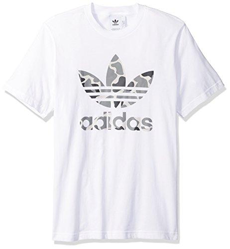 's Trefoil Tee Shirt, White Camo, L ()