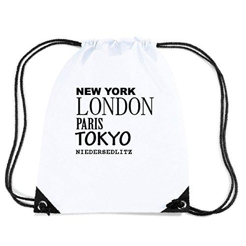 JOllify NIEDERSEDLITZ Turnbeutel Tasche GYM655 Design: New York, London, Paris, Tokyo