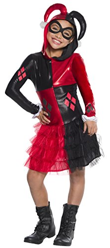 Rubie's Costume Girls DC Comics Harley Quinn Costume,