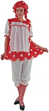 Juguetes Fantasia - Disfraz muñeca trapo adulto: Amazon.es ...