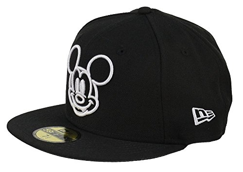 Disney–New Era 59FIFTY Casquette–Mickey Mouse–White Face–Black