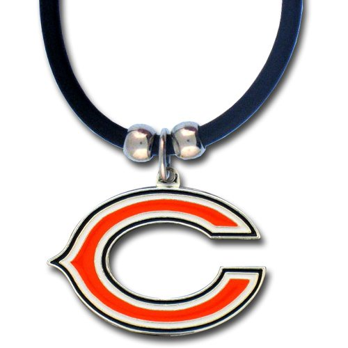 NFL Chicago Bears Rubber Cord Logo Necklace
