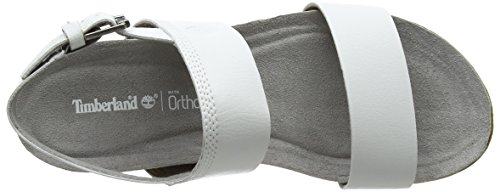 Timberland Women's Malibu Waves 2-Band Slide Mules, White White (White 100)
