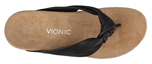 Pippa Size Vionic Toepost 5 Sandal Rest 7 Wide Womens Black ErpwqxpHY
