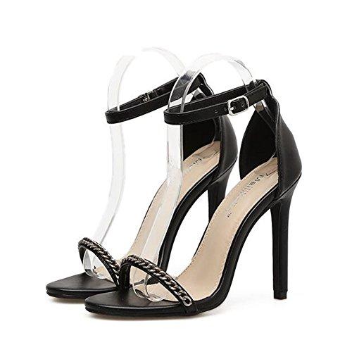 Catena Parola New e sandali Scarpe SHINIK Europa Toe Uniti tacco Scarpe con Stati da Estate alto donna donna da Open Fine con n6UqdxUPZ