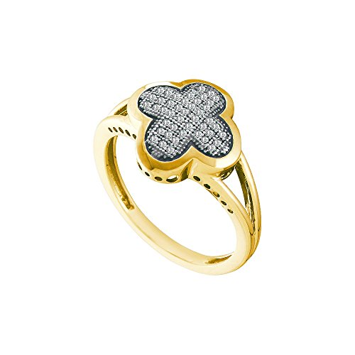 Pave Diamond Right Hand Ring - Sonia Jewels Size 12.5-10K Yellow Gold Diamond Cross Wedding, Anniversary OR Fashion Right Hand Ring Band - w/Micro Pave Set Round Diamonds - (.15 cttw)
