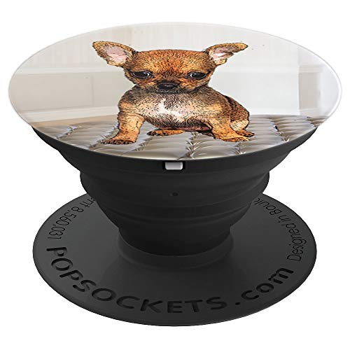 Chihuahua Puppy Dog Pop Socket - PopSockets Grip and Stand for Phones and Tablets (Baby Mascot Mobile)
