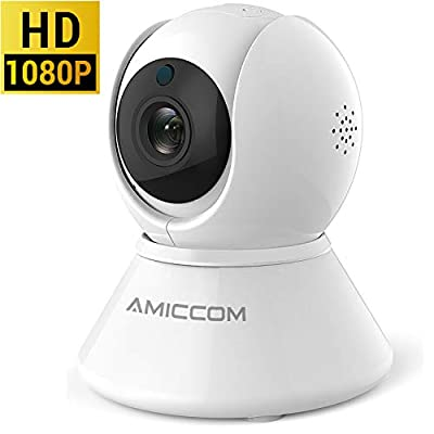 WiFi Camera, 1080P Security Camera System Wireless 2.4Ghz Home PTZ Pan/Tilt/Zoom Cam with 2 Way Audio Night Vision, Auto-Cruise, Motion Tracker, Activity Alert, Pet Camera iOS/Android/Windows
