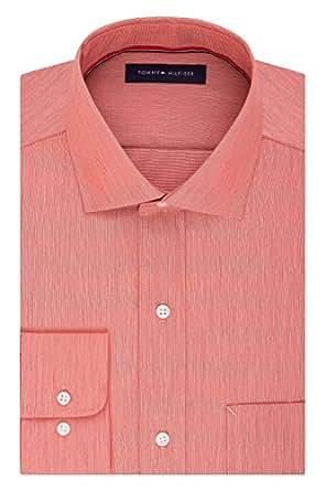 "Tommy Hilfiger Men's Non Iron Regular Fit Solid Spread Collar Dress Shirt, Harvest, 15"" Neck 32""-33"" Sleeve"