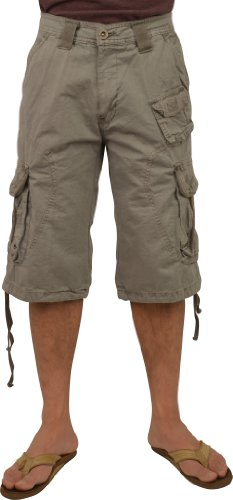 STONE TOUCH Mens Military Cargo Shorts Light Grey Color #3112s sizes:36