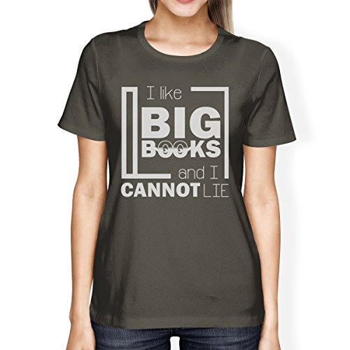 shirt Grey Femme 365 Cannot Like I Taille Big Printing Books Courtes Lie Unique Manches Dark T EXZ7qX