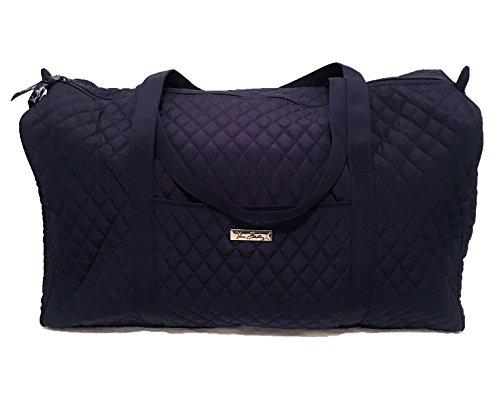Vera Bradley Large Duffel Bag Micro Fiber Classic Navy by Vera Bradley