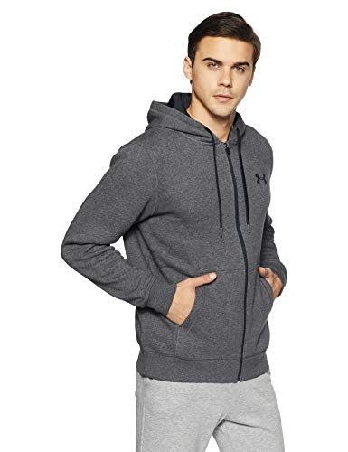 Under Armour Rival Cotton Full-Zip Hoodie - Men's True Gray