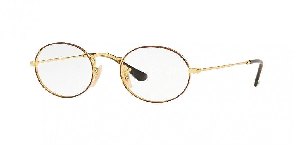 RB Unisex RX3547V Eyeglasses Gold On Top Havana 48mm /& Cleaning Kit Bundle