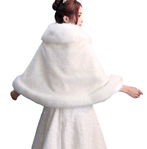 Woman de fourrure de de de de Manteaux cape 1 manteau de manteau de de manteau synthétique manteau d'Insun poncho manteau PtStqUFxw