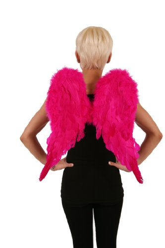 ZUCKER Angelique Feather Angel Wings - Shocking Pink