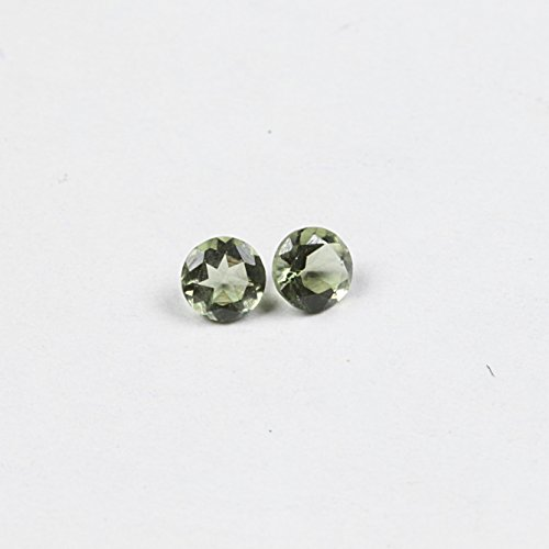 Review Natural Moldavite 3mm Faceted