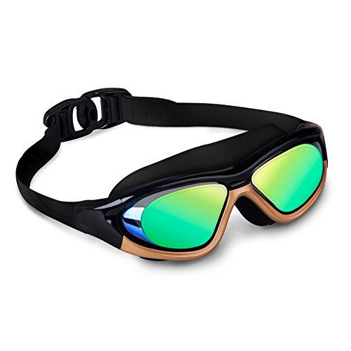 Best Swimming Costumes 2016 (OuterStar Swimming Goggles Anti-Fog Leakless UV Protection Comfortable Large Frame Swim Glasses for Adult)