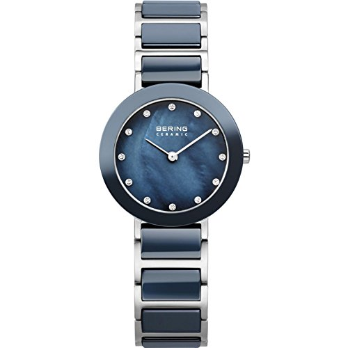 BERING Time 11429-787 Women's Ceramic Collection Watch with Ceramic Link Band and scratch resistant sapphire crystal