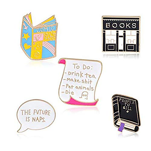 Animal Lover Pin Set - Romanticworks Enamel Lapel Pin Set Badge Pins Women Girls Backpacks Jackets (V - 5 Pack)