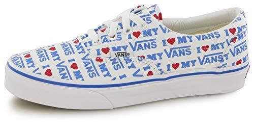 Vans Unisex Era¿ (I Heart Vans) True White/True White 6 Women / 4.5 Men M US (Unisex Heart)