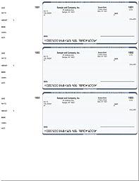 Computer Checks - 300 Printed Computer Laser Checks - Wallet Checks Compatible for Quicken or QuickBooks