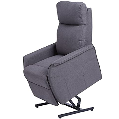 Giantex Electric Power Lift Chair Recliner Sofa Chair, With Fabric Padded Seat ,W/Remote (Gray) - Free Lift Chairs