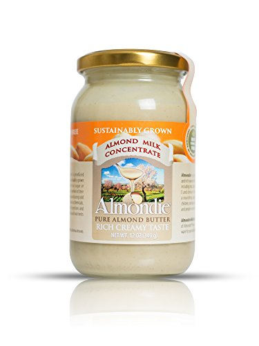 Almondie Almond Butter / Almond Milk Concentrate - Made from 100% peeled, pure and raw almonds without any additives, sugar or salt