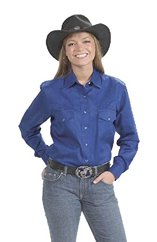 Down Women's Royal Button Blue Cowboy Shirt Cotton Outlet Sunrise Western tHqp8TfW
