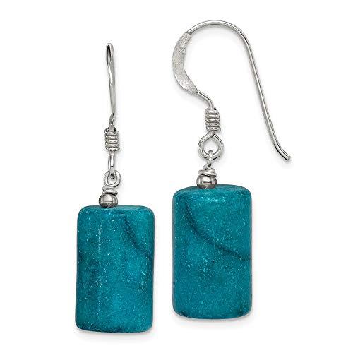 - 925 Sterling Silver Blue Jasper Drop Dangle Chandelier Earrings Fine Jewelry Gifts For Women For Her
