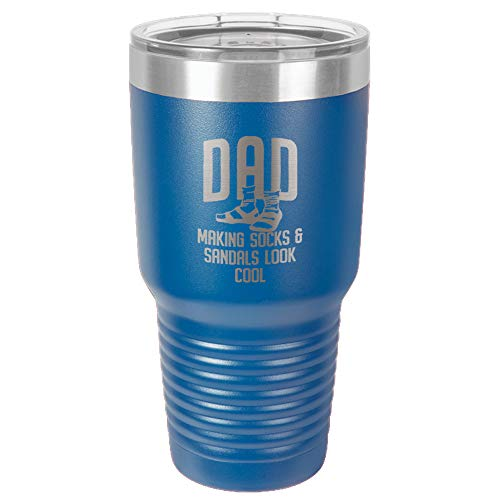 (Polar Camel 30oz BPA Free Stainless Steel Vacuum Insulated Tumbler | Socks And Sandals | Great Gift | Perfect Gift for Dad)