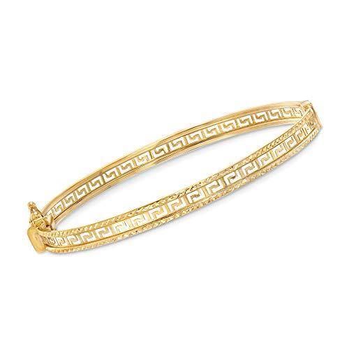 Ross-Simons 14kt Yellow Gold Greek Key Bangle Bracelet ()