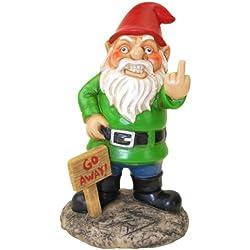 BigMouth Inc Go Away Garden Gnome, Funny Lawn Gnome Statue, Naughty Gnome Garden Decoration