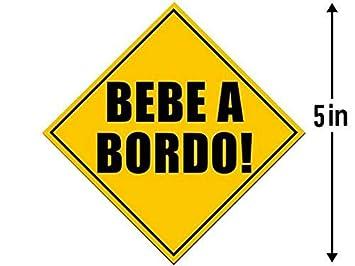 American Vinyl Bebe A Bordo Safety Sticker (Spanish baby hispanic board espanol)