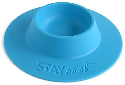 STAYbowl Tip-Proof Ergonomic Pet Bowl for Guinea Pig and Other Small Pets; 1/4-Cup Size; Sky - Pig Guinea Ceramic