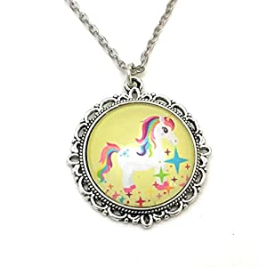 Unicorn Necklace – Rainbow Colors – Handmade