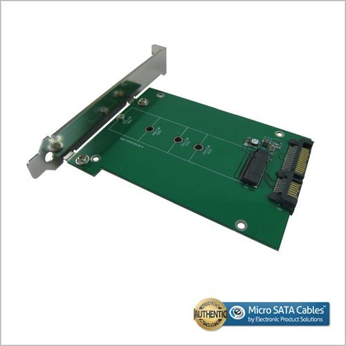 M.2 SATA SSD to SATA III Adapter with PCI-e Bracket