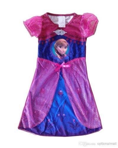Frozen Disney Store Princess Elsa Child Girls Sleepwear Costumes Cosplay Skirt S Size