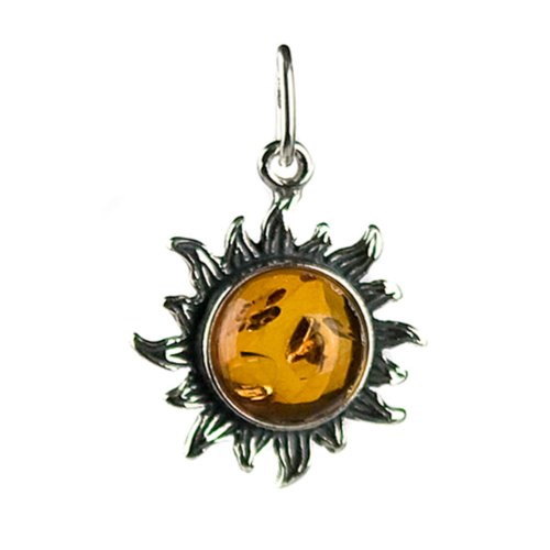 Honey Sterling Silver Sunflower Pendant product image