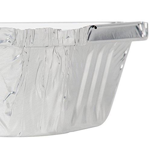 Desechables resistente aluminio Oblong Foil Pan contenedores 1 libra capacidad, 5.56