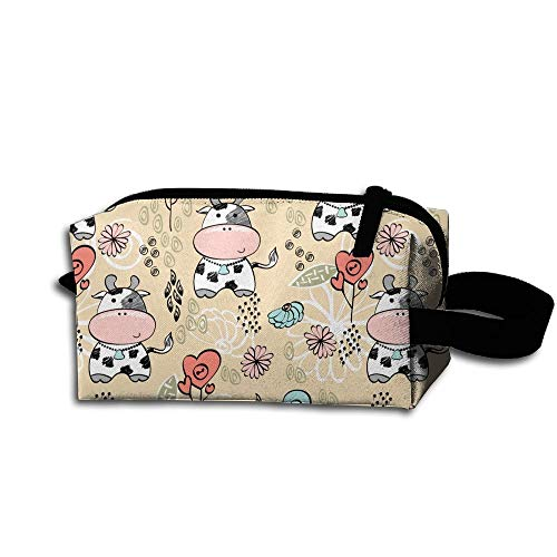 Cosmetic Tolietry Dairy Accessories Case Bag Women's Cute Popular Organizer Cow Travel YIwdOf