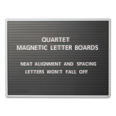 Magnetic Wall Mount Letter Board, 36 x 24, Black, Gray Aluminum Frame, Sold as 1 Each