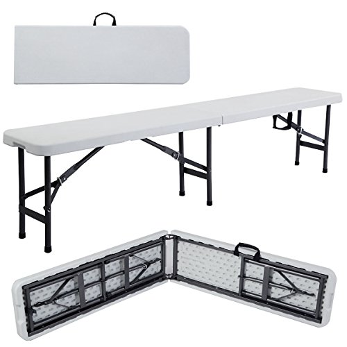 - Giantex 6' Portable Plastic In/outdoor Picnic Party Camping Dining Folding Bench