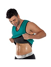 Mens Slimming Sweat Vest Hot Neoprene Shirt with Side Zipper for Weight Loss