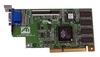 (Compaq Genuine ATI Rage Pro 2X NLX 8MB Turbo AGP Graphics Card with Short NLX Bracket Only - Refurbished - 113874-001 )